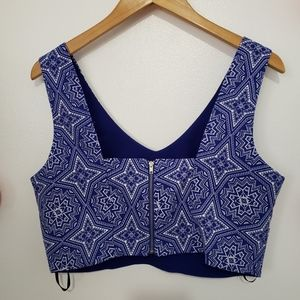 Forever 21 Tops - FOREVER 21 geometric pattern cropped top L